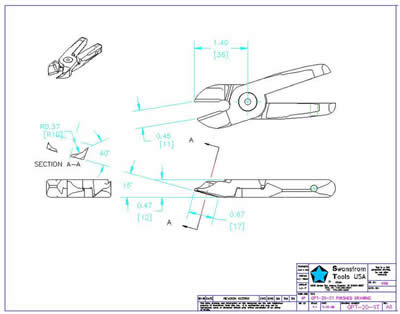 Detailed drawing of GPT-20-ST